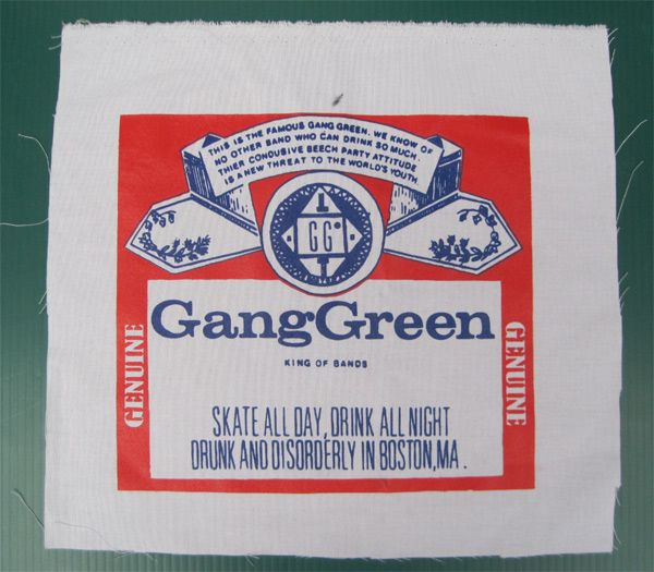 GANG GREEN BACKPATCH BUDWEISER