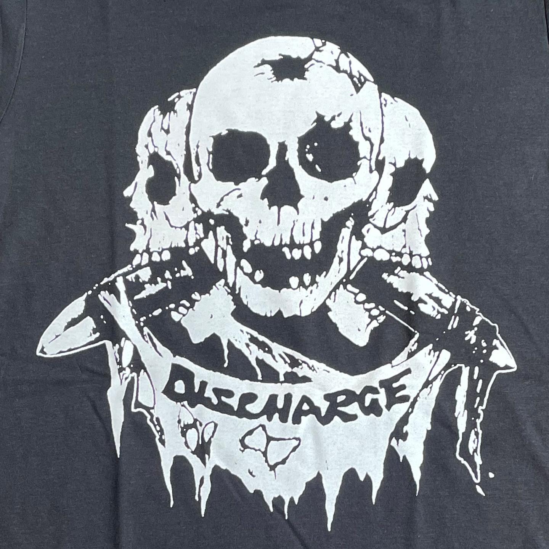 DISCHARGE Tシャツ 3面ドクロ オフィシャル!