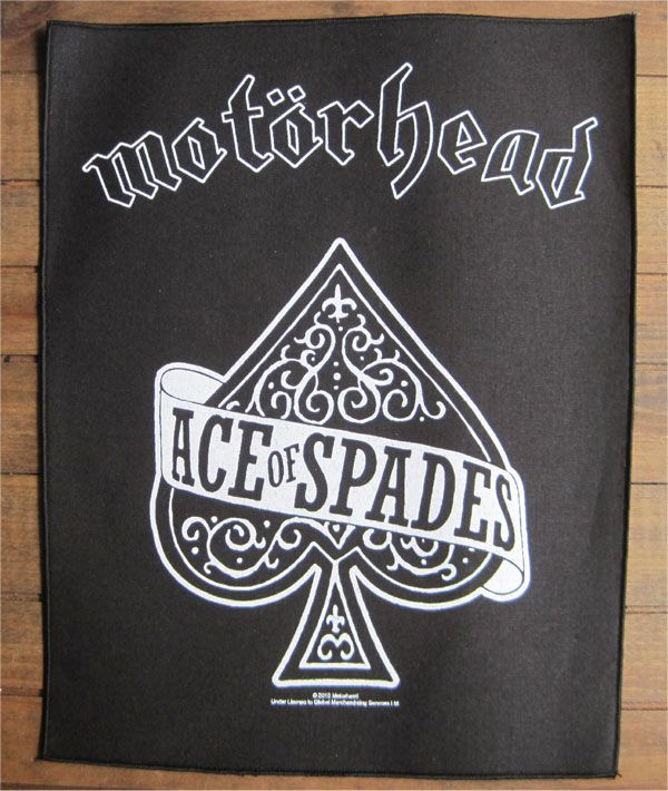 MOTORHEAD BACKPATCH ACE OF SPADES