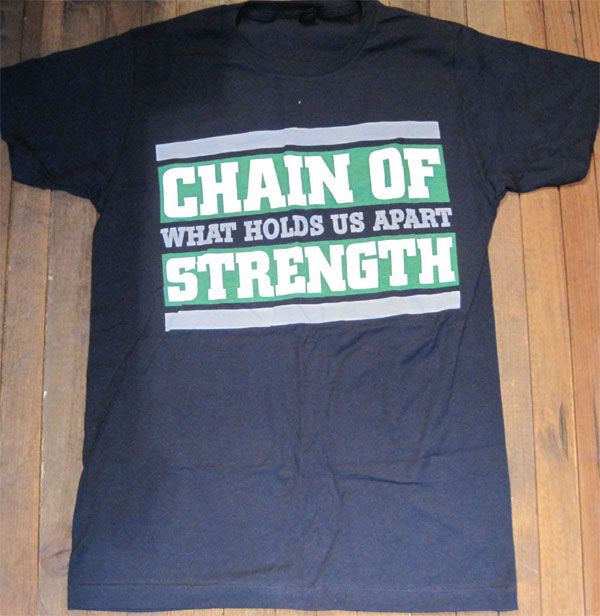 CHAIN OF STRENGTH Tシャツ WHAT HOLDS US APART REVELATION 25