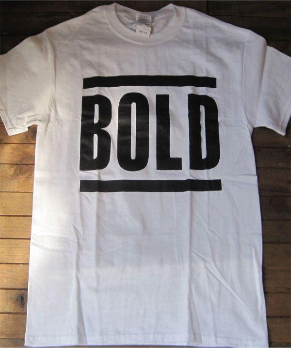 BOLD Tシャツ ロゴ 白ボディ