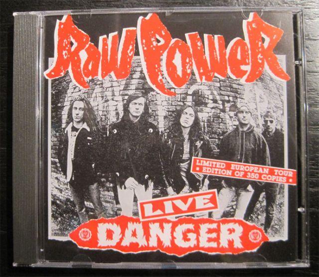 RAW POWER CD LIVE DANGER(DEAD STOCK)