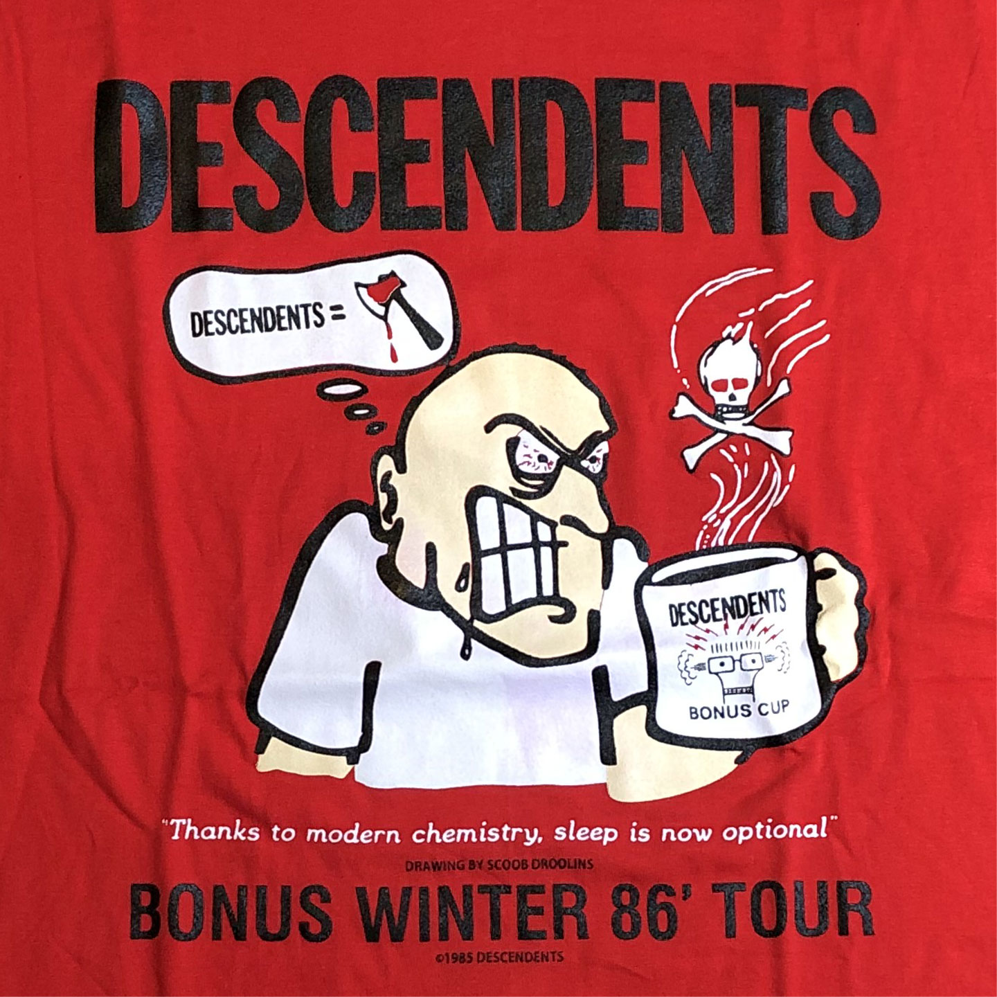 DESCENDENTS Tシャツ BONUS WINTER 86' TOUR OFFICIAL!
