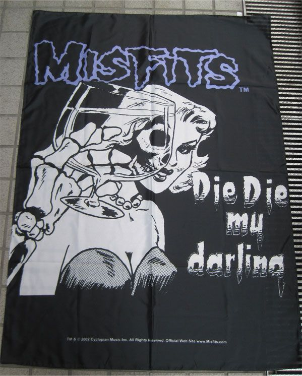 MISFITS FLAG DIE DIE MY DARLING