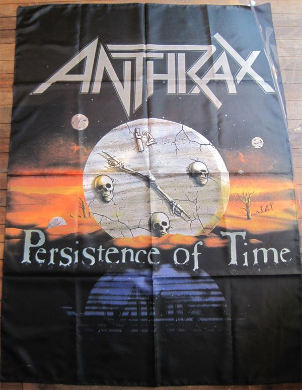 ANTHRAX バナー PRESITENCE OF TIME