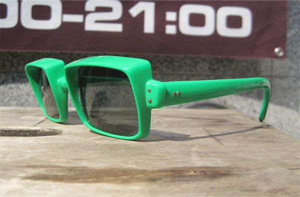 FRANCE MADE VINTAGE SUNGLASS TV STYLE GREEN