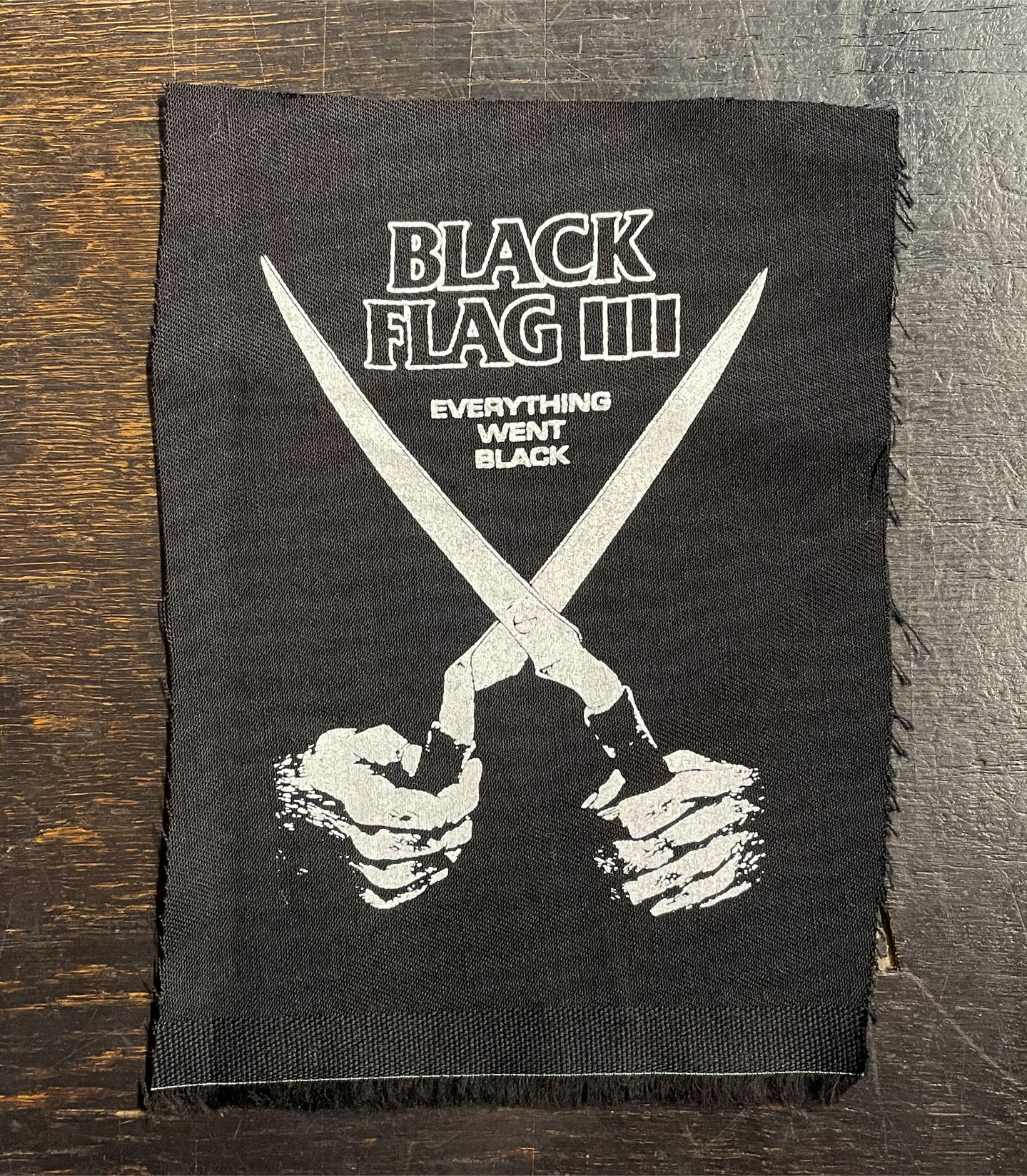 BLACK FLAG PATCH EVERYTHING WENT BLACK