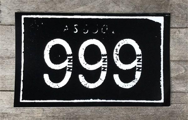 999 ステッカー ロゴ
