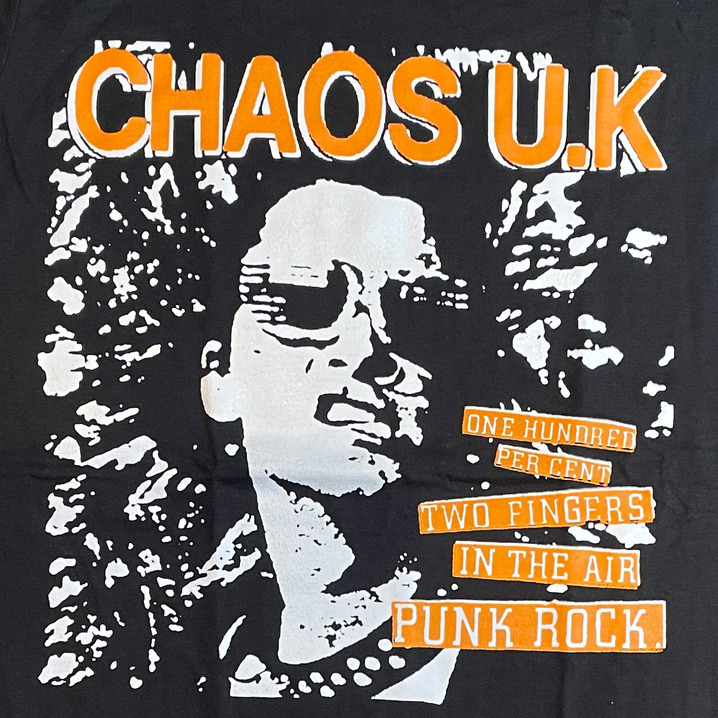 CHAOS UK Tシャツ ONE HUNDRED PERCENT 2