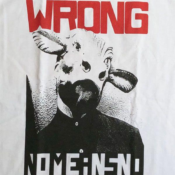 NOMEANSNO Tシャツ WRONG オフィシャル!