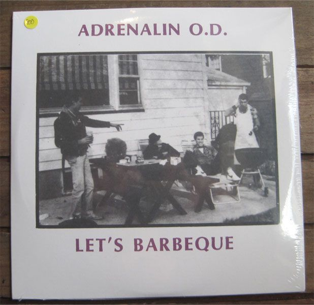 """ADRENALIN O.D. 7""""ep LET'S BARBEQUE"""