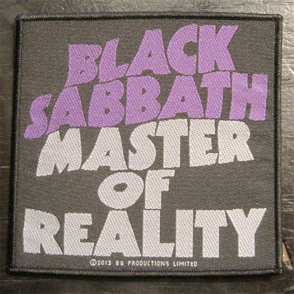 BLACK SABBATH 刺繍ワッペン MASTER OF REALITY