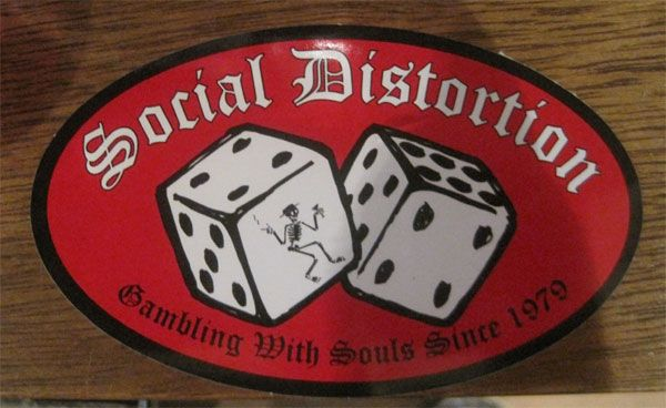 SOCIAL DISTORTION ステッカー DICE