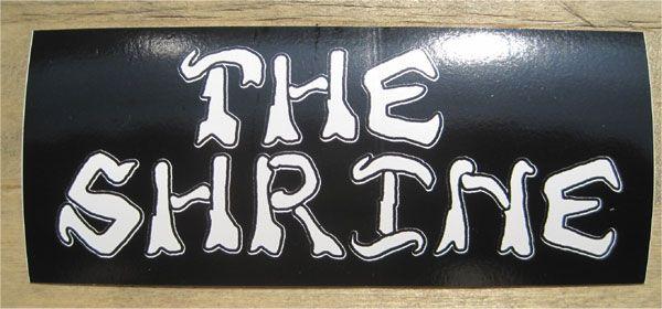 THE SHRINE ステッカー NAME