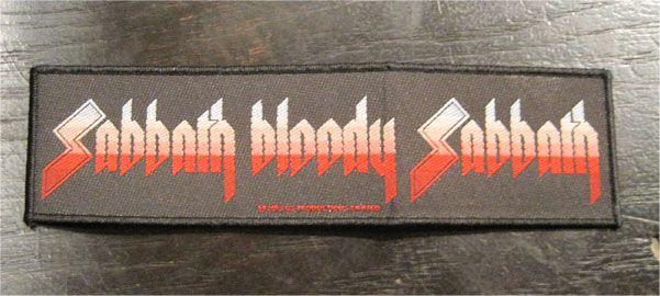 BLACK SABBATH 刺繍ワッペン SABBATH BLOODY SABBATH