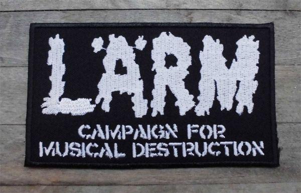 LARM 刺繍ワッペン Campaign For Musical Destruction 1