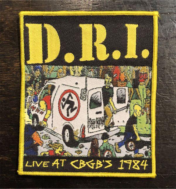 D.R.I. 刺繍ワッペン LIVE AT CBGB'S 1984