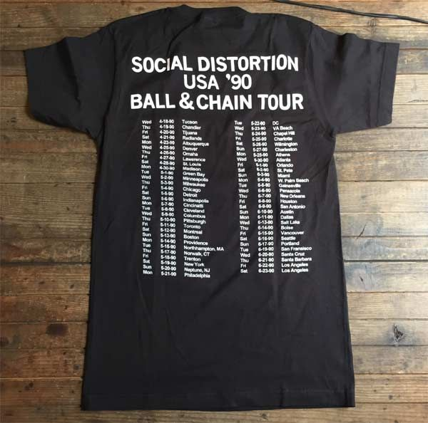 SOCIAL DISTORTION Tシャツ BALL&CHAIN OFFICIAL!