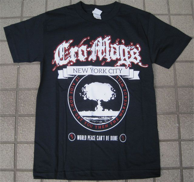 CRO MAGS Tシャツ WORLD PEACE CAN'T BE DONE