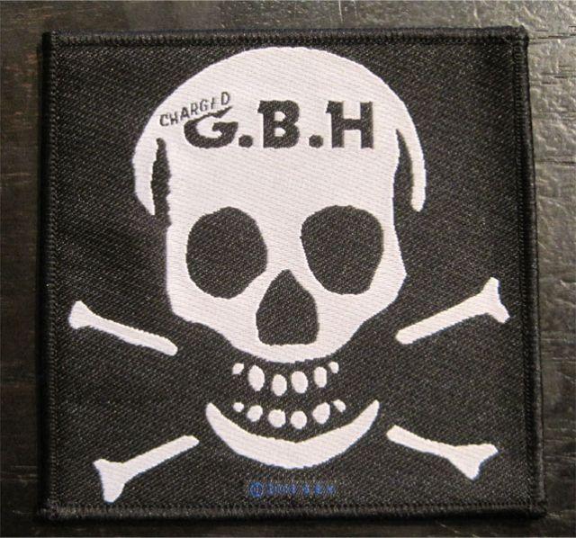 G.B.H 刺繍ワッペン SKULL