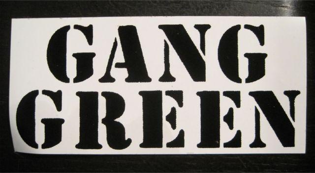 GANG GREEN ステッカー NAME