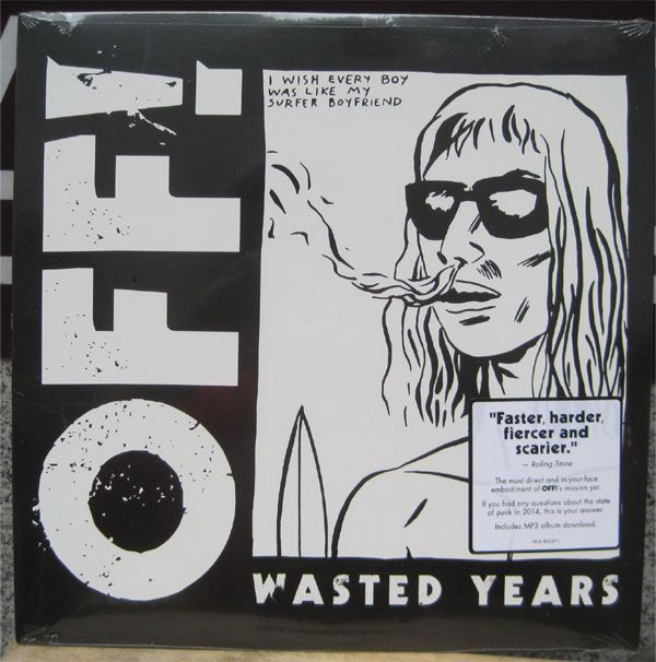 """OFF! 12""""LP WASTED YEARS"""