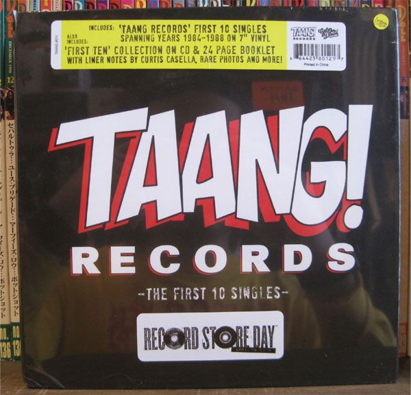 """SALE! Taang! Records 7""""x10 + CD The First 10 Singles Ltd.2000!"""