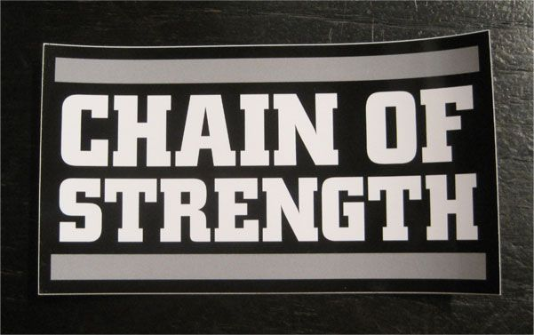 CHAIN OF STRENGTH ステッカー LOGO3