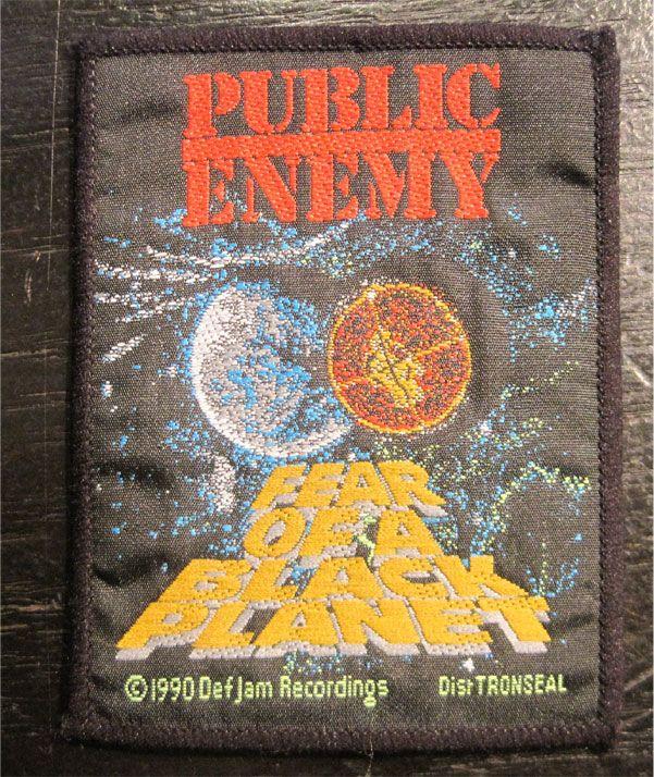 PUBLIC ENEMY DEADSTOCK刺繍ワッペン FEAR OF A BLACK PLANET