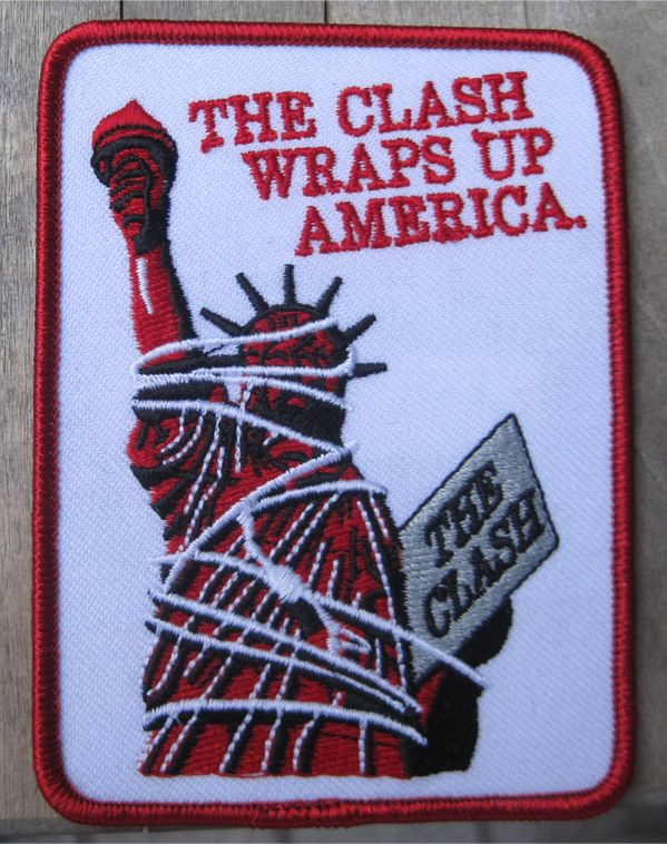 THE CLASH 刺繍ワッペン WRAPS UP AMERICA