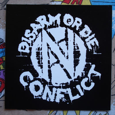 CONFLICT ステッカー DISARM OR DIE