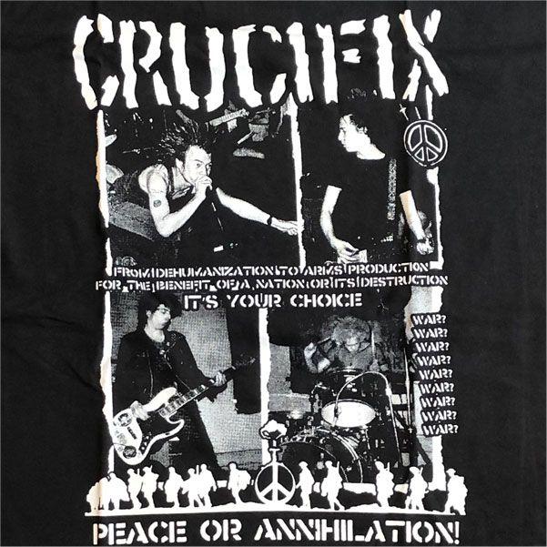 CRUCIFIX Tシャツ PEACE OR ANNIHILATION PHOTO