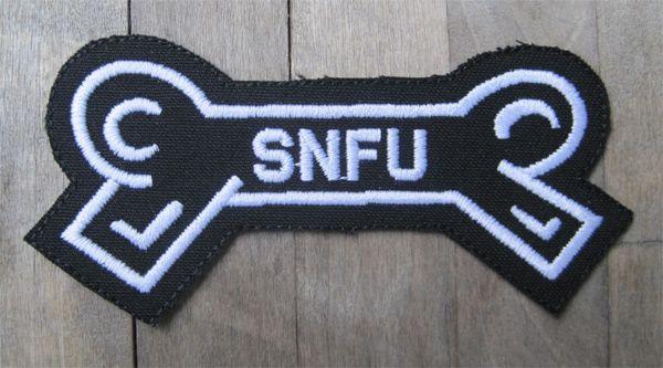S.N.F.U 刺繍ワッペン BONE