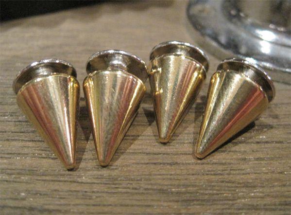 STUDS SMALL SCREW CONE GOLD