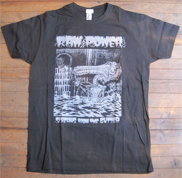 RAW POWER Tシャツ Screams From the Gutter2