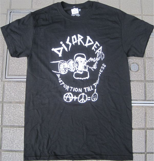 DISORDER Tシャツ DISTORTION TILL DEAFNESS 1