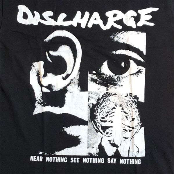 DISCHARGE Tシャツ HEAR NOTHING SEE NOTHING SAY NOTHING 3