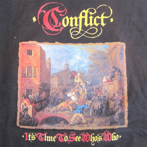 CONFLICT Tシャツ It's Time To See Who's Who