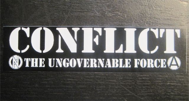 CONFLICT ステッカー UNGOVERNABLE FORCE