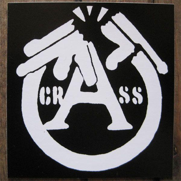 CRASS ステッカー 銃