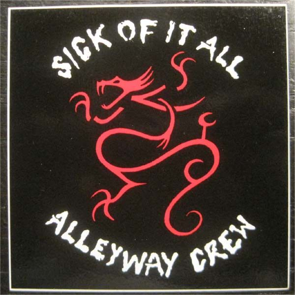 SICK OF IT ALL ステッカー ALLEYWAY CREW