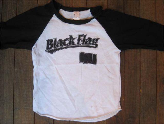 BLACK FLAG キッズTシャツ ラグラン