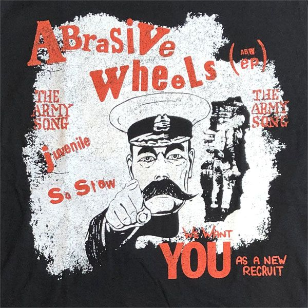 ABRASIVE WHEELS Tシャツ ARMY SONG オフィシャル!