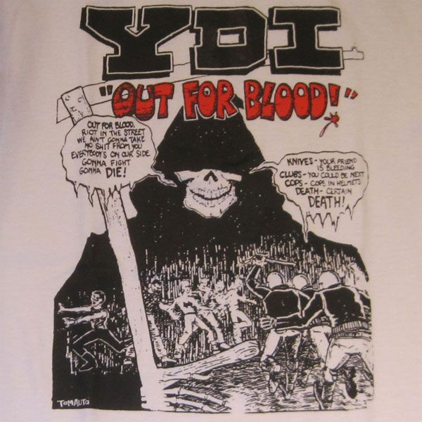 YDI Tシャツ OUT FOR BLOOD!