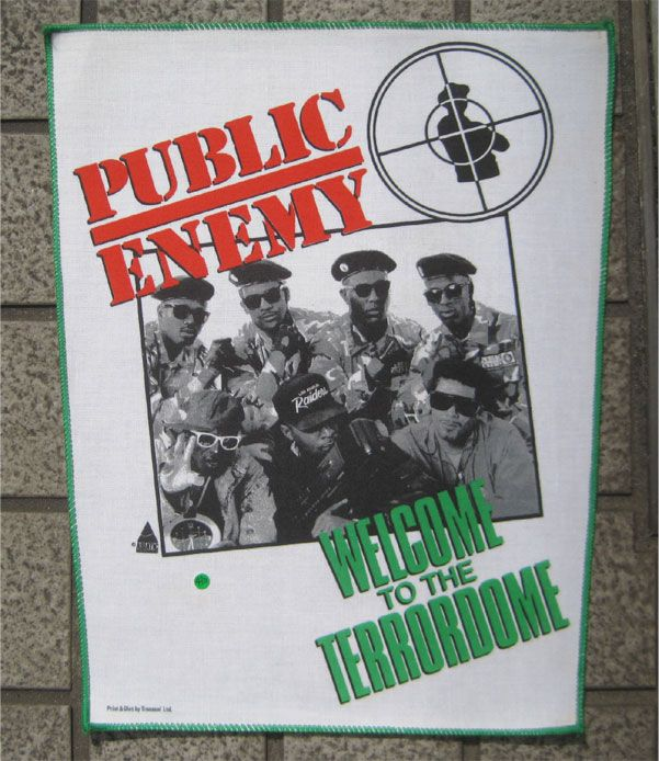 PUBLIC ENEMY DEADSTOCK BACKPATCH WELCOME to the TERRORDOME