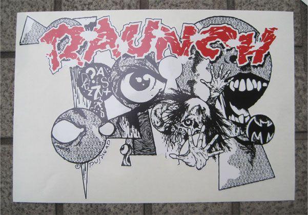 RAUNCH RECORDS デカステッカー KEYHOLE ダイカット