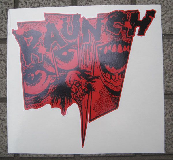 RAUNCH RECORDS ステッカー SHATTERED GLASS