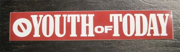 YOUTH OF TODAY ステッカー LOGO