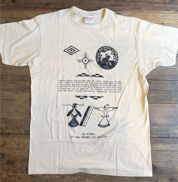 FLUX OF PINK INDIANS Tシャツ NO FUTURE