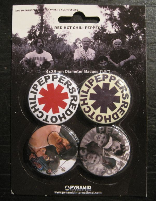 RED HOT CHILI PEPPERS バッジ SET